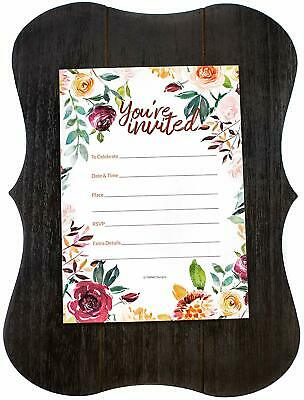 30 Wedding Invitations Floral Watercolor Fill-In Dinner Party Invites Rehearsal