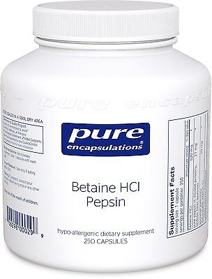 Pure Encapsulations Betaine HCl Pepsin 250 Caps ()