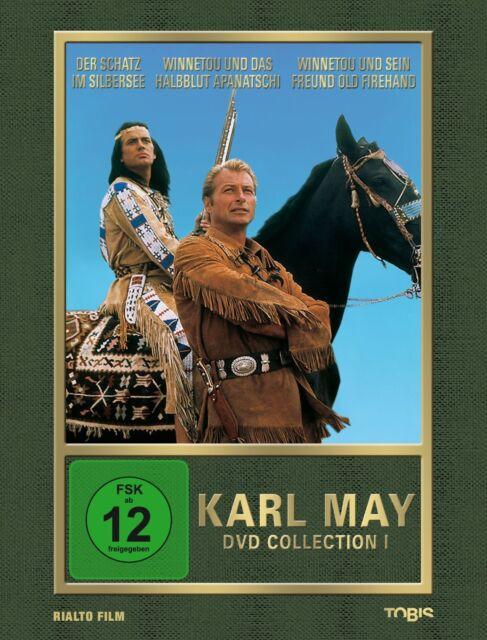 KARL MAY Collection 1 SILBERSEE Apanatschi WINNETOU Firehand 3 DVD Box EDITION