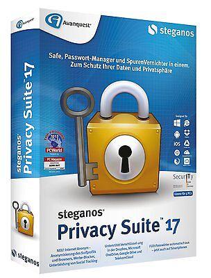 Steganos Privacy Suite 17 ESD / Download für 5x  PC Daten schützen 4023126117939