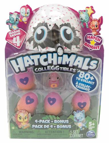 Hatchimals CollEGGtibles, 4 Pack + Bonus, (Styles & Colors May Vary)  NEW