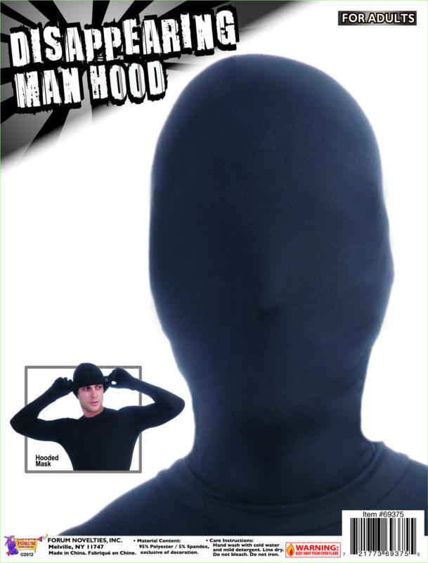 DISAPPEARING MAN HOOD BLACK