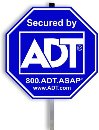 NEW ADT SECURTY YARD SIGN AND NO FREE STICKERS WATERPROOF