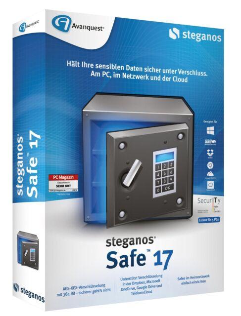 Steganos Safe 17 CD/DVD Version Tresor für Ihre Daten für 5 PC EAN 4023126117922