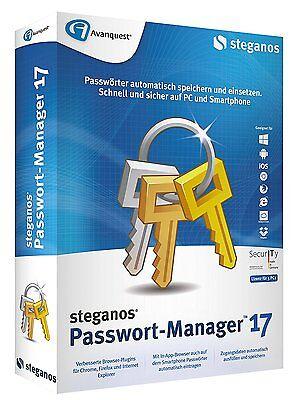 Avanquest Steganos Passwort Manager 17 - NEU - offizielle Version -