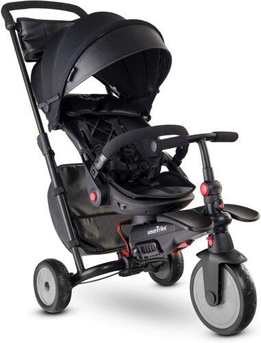 SmarTrike STR7 Urban 7 in 1 Kids Compact Folding Stroller Trike Black 6-36 M New