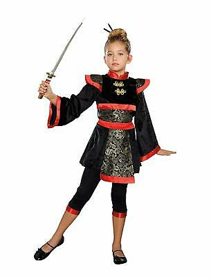Ninja Star Asian Warrior Girl Martial Arts Fancy Dress Halloween Child Costume - Girl Ninja Warrior