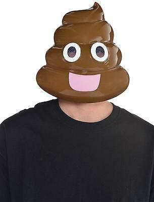 Poop Emoji Mask Funny Face Fancy Dress Up Halloween Adult Costume Accessory - Funny Face Mask