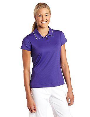 Nike Golf Womens Mini Stripe Polo Shirt Dri Fit Xlt $65 Purple Black