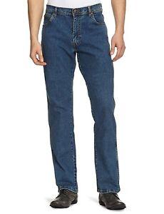 Wrangler-Texas-Stretch-Regular-Fit-Denim-Jeans-New-Men-s-Stonewash-Blue