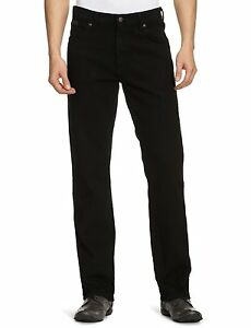 New-Wrangler-Texas-Stretch-Jeans-Black-Denim-All-Sizes
