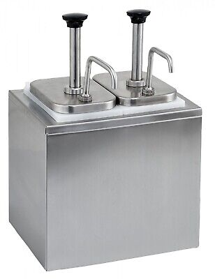 Stainless Steel Condiment Dispenser With 2 Standard Pumps