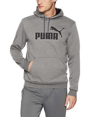 NEW NWT PUMA Men's Essential Hoody Fleece Big Logo, Medium Gray Heather XXL 2XL  Fleece Big Logo Hoody