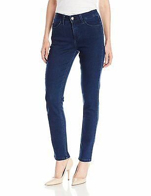 Lee Women's Size 10 Dark Wash Active Motion Slimming Frenchie Skinny Leg Jeans