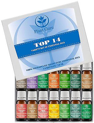 Essential Oil Set -14 Pack -100% Pure Natural Therapeutic Grade Oils Lot 10 ml.