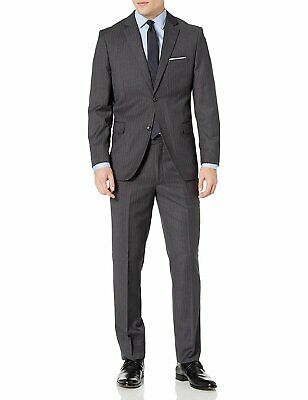 Caravelli Men's Single Breasted Slim Fit 2-Button Vested Suit Set - Colors Single Button Vest