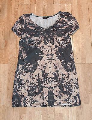Julie Dyed Brown Black & Grey Pattern Top - Size Small / Medium
