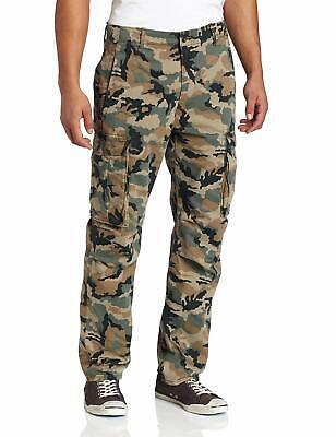 Levis Mens Twill Cotton Relaxed Fit Ace Cargo Pants Camouflage Green 0001 Cargo Pants Green