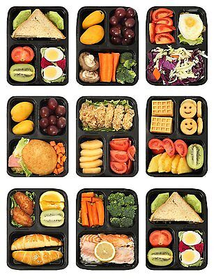10 Pack 3 Compartment Meal Prep Food Storage Containers With Lids & Forks 33 oz.