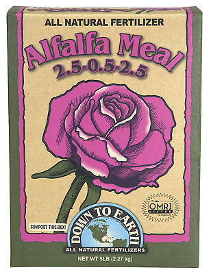 Down to Earth Alfalfa Meal 5 lbs All Natural Dry Fertilizer ORMI Listed