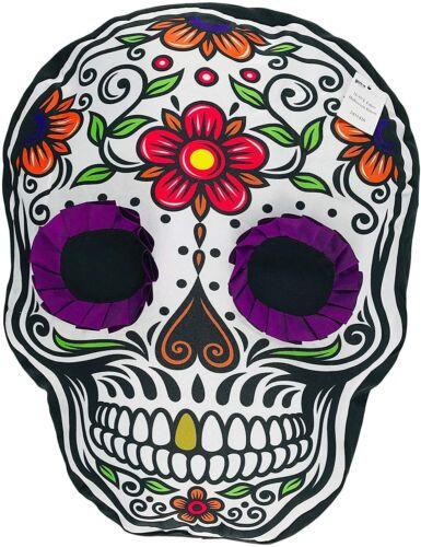 Halloween Throw Pillows Día de Los Muertos Day of The Dead Purple Sugar Skull