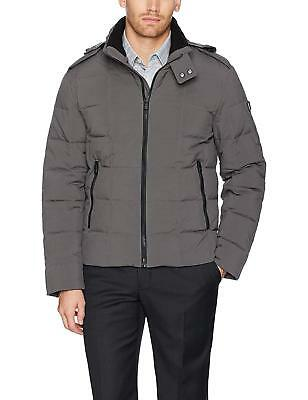 Box Quilted Coat (Tumi F77617 Grey Storm Down Box Quilted Hood Puffer Jacket Coat M $325)