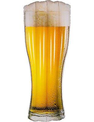Luftmatratze Bierglas Wasserliege Strand Badeinsel Bierkrug XL Pool-Party Bier - Luft Glas