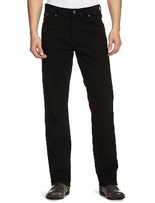 Wrangler Texas Stretch Jeans New Men's Black Overdye Denim Pants All Sizes