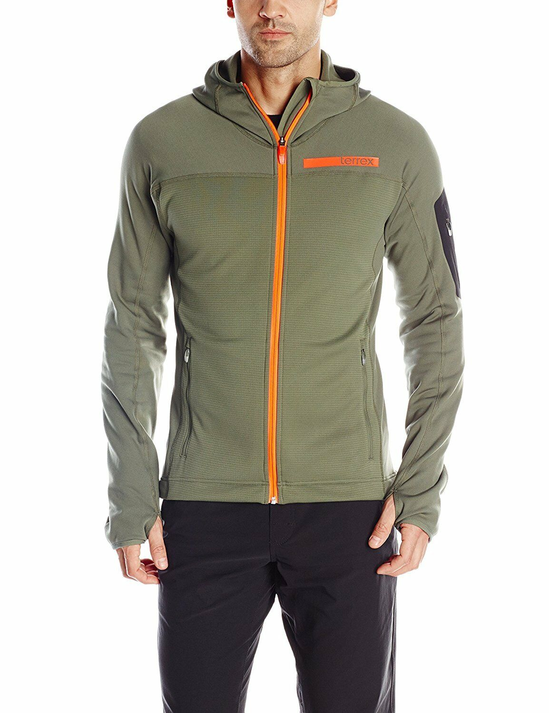 adidas Terrex Stockhorn Hooded Fleece Jacket Burgundy   adidas US