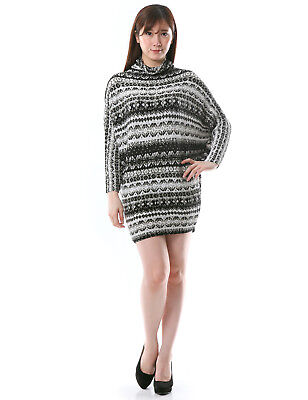 Nordic print design dolman tunic dress loose-fit womens size s m l xl 2x 3x NWT