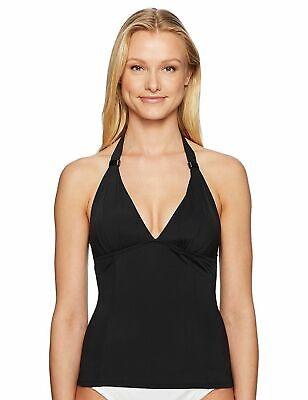 Solid Halter Tankini (Lole Jamaique Halter Tankini Top Women's size M  Solid Black  #11788)