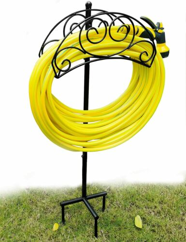 Garden Hose Holder Hanger Heavy Duty Metal Water Hose Storage Stand Rack for Out