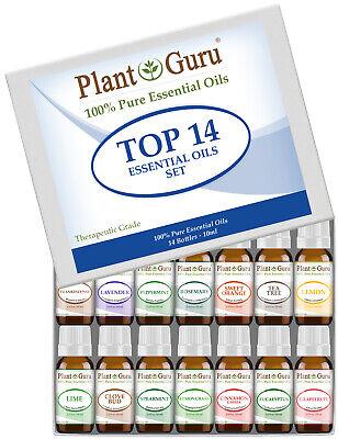 Essential Oil Set Gift Kit 14 - 10ml 100% Pure Therapeutic Grade Sampler Lot