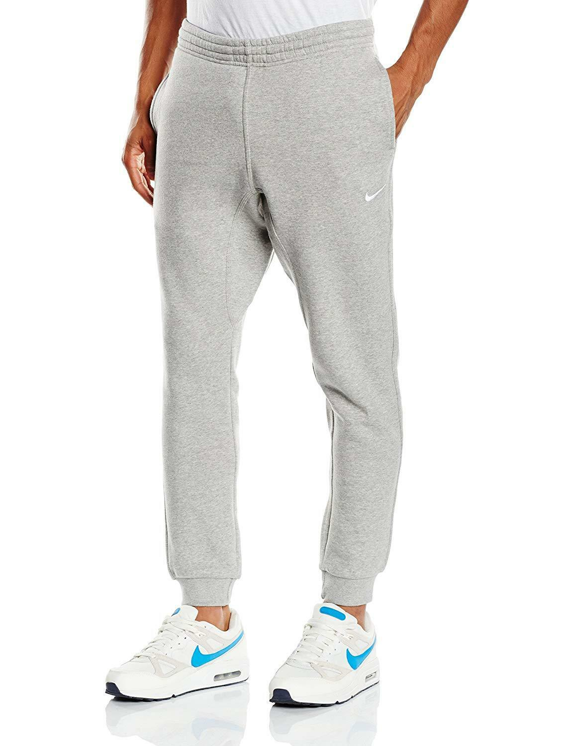 New With Tags Men's Nike Gym Muscle Slim Club Fleece Jogger Pants Sweatpants Grey