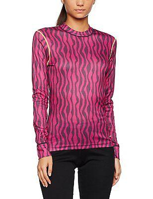 Smoothie Base Mix (Craft Women Mix & Match Base Layer Long Sleeve Shirt Zebra Smoothie Medium New)