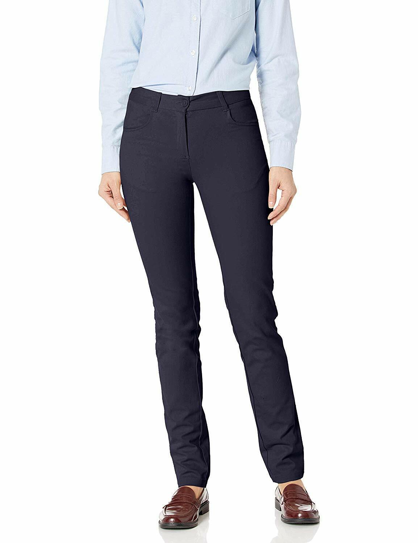 IZOD Junior's Girl's Uniform Skinny Stretch Pant - Navy Blue - Size 11