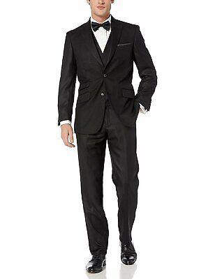 NEW Men's Suit Modern Fit 3-Piece (Jacket, Vets, Trousers) Peak Lapel Linen (Mod Suit Jacket)