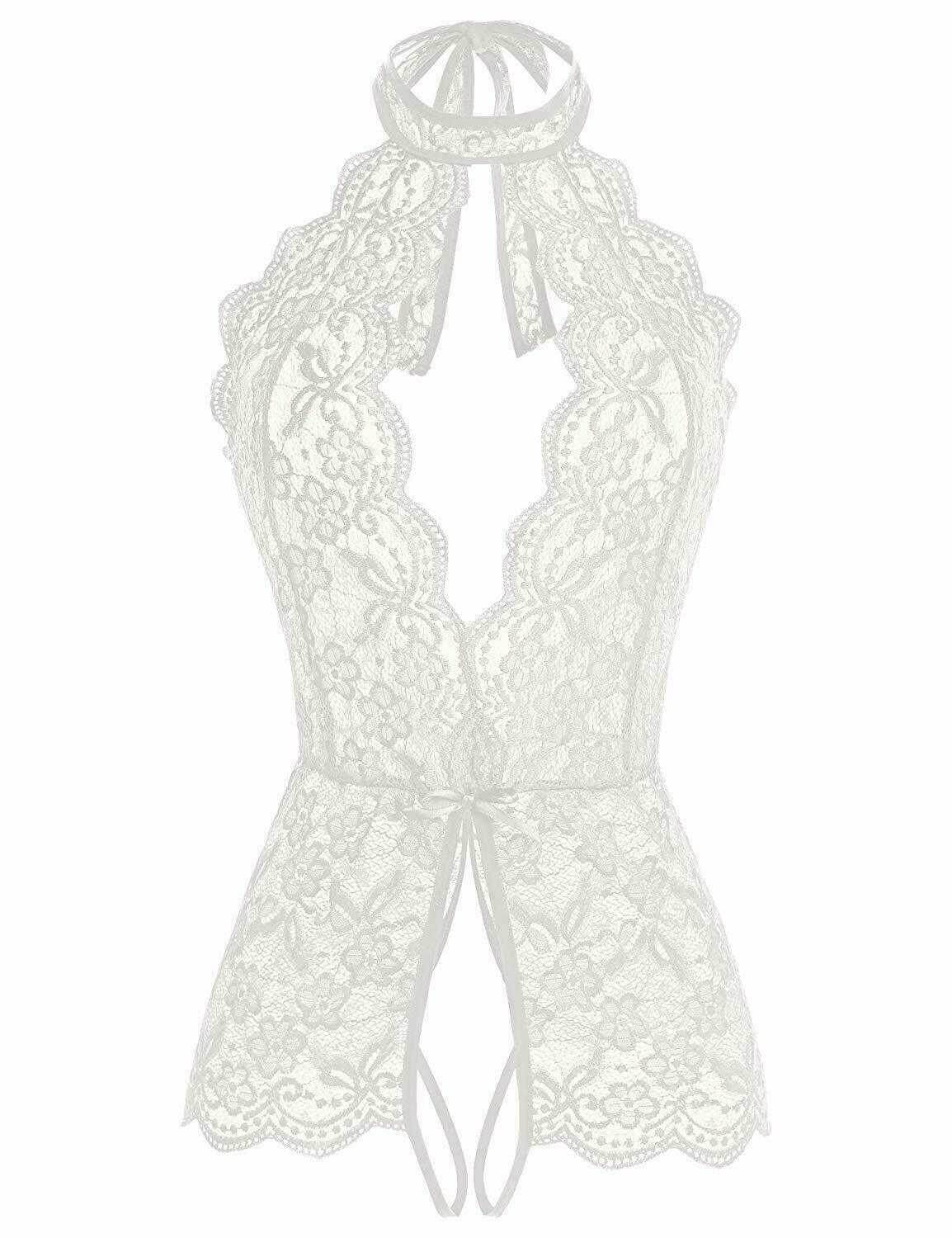 Plus Size Sexy Lingerie Lace One-Piece Womens Teddy Crothless Bodysuit US FAST Clothing, Shoes & Accessories
