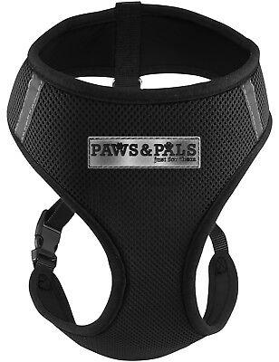 Pet Control Harness Medium Dog Cat Soft Black Mesh Walk Collar Safety Strap Vest