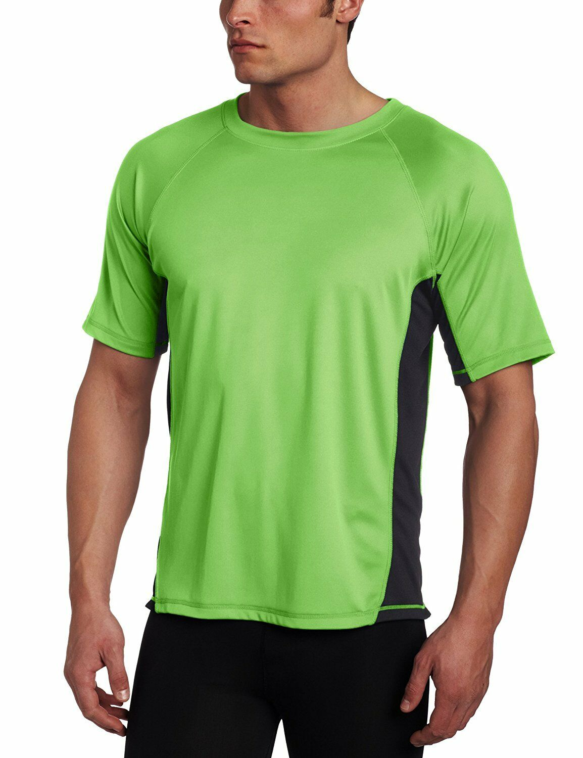 Kanu Surf Men's CB Rashguard UPF 50+ Swim Shirt Neon Green X
