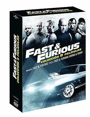 PELICULA DVD PACK SAGA COMPLETA FAST & FURIOUS 9 PELICULAS PRECINTADA