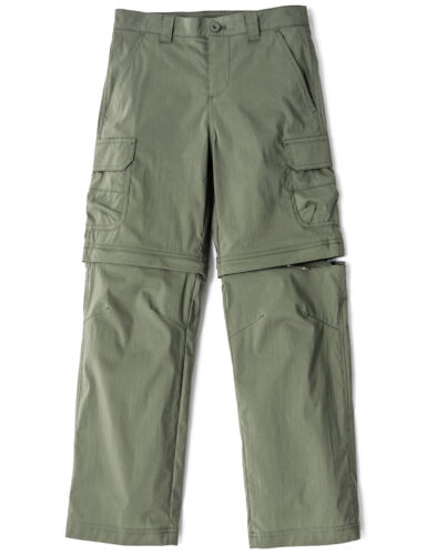 CQR Kids Youth Hiking Cargo Pants, UPF 50+ Quick Dry Regular Pants