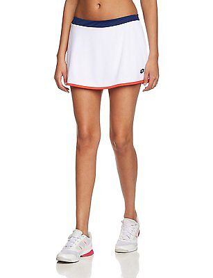 NEW Lotto White Tennis Skirt Piper W - Size Small S - Blue / Red Trim