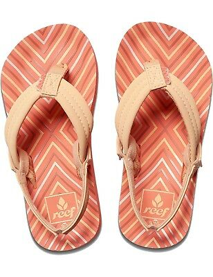 REEF Kinder Sandalen Girls Mädchen Flip Zehensandalen Strand »LITTLE AHI« Coral Reef Girls