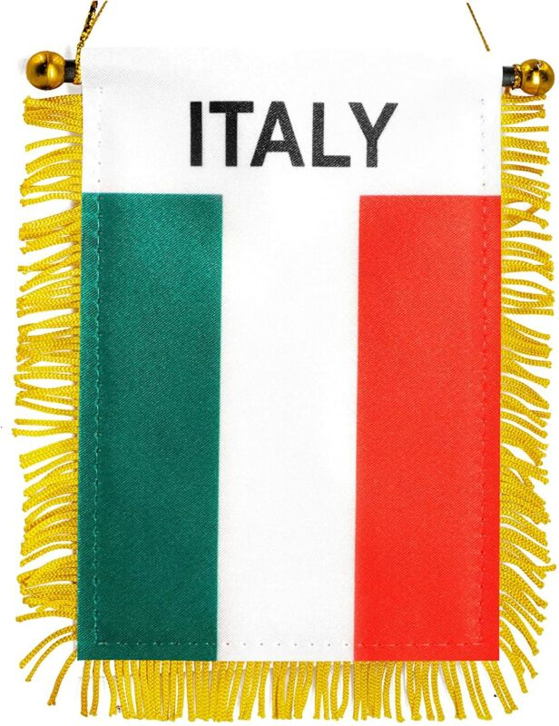 Anley 4 X 6 Inch Italy Fringy Window Hanging Flag - Mini Flag Banner