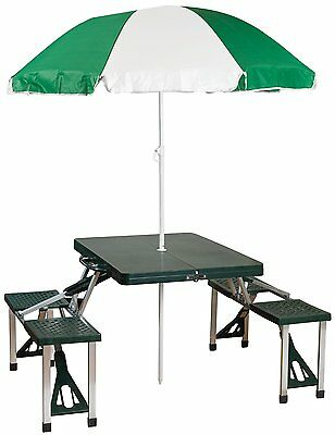 Portable Table Seat Chair Umbrella Sun Shade Outdoor Travel Camping Folding Set