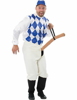 Mens Knob Jockey Fancy Dress Stag Night Funny Rude Naughty Costume](Jockey Costumes)
