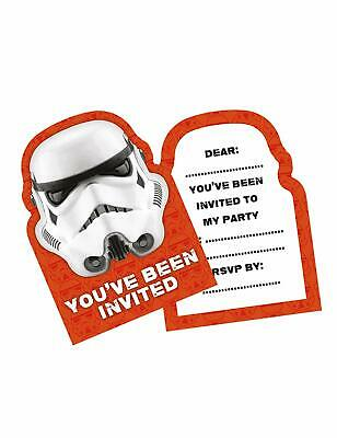 6-12-18-24-30 STAR WARS INVITE CARDS INVITATIONS PARTY STORMTROOPERS R.S.V.P NEW