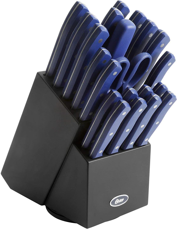 Knife Set, 22-Piece Kitchen Knife Set with Block Wooden Germ