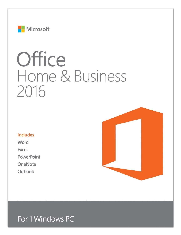 Microsoft Office Home Business 2016 Retail 1 Full Version Original License Windows 10 Pro Stock Photo